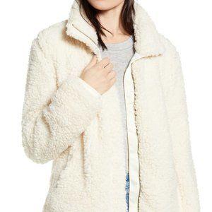 """Thread & Supply BNWT ivory """"wubby"""" teddy jacket S"""